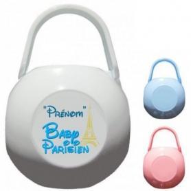 Boîte à Sucette personnalisée Baby Parisien Prénom
