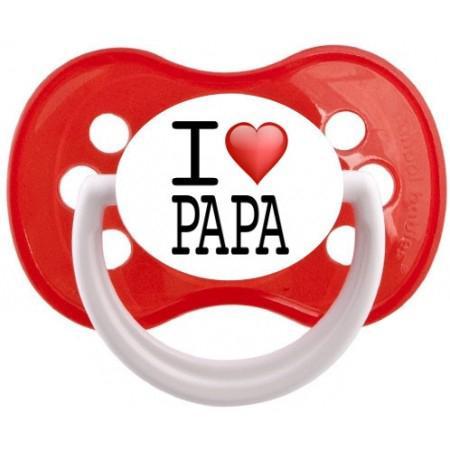 Sucette personnalisée I love papa