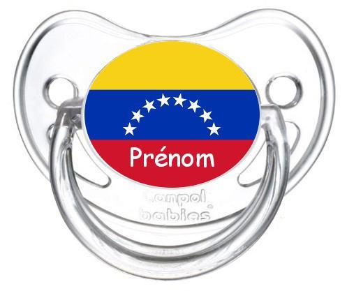 Sucette personnalisée drapeau Vénézuéla et prénom