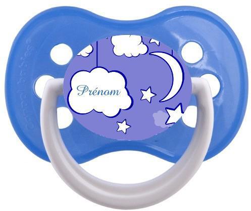 Sucette personnalisée nuage et prenom modele 2
