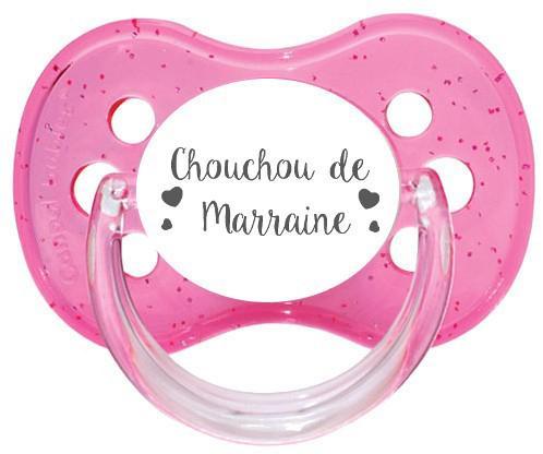 Sucette personnalisée Chouchou de marraine