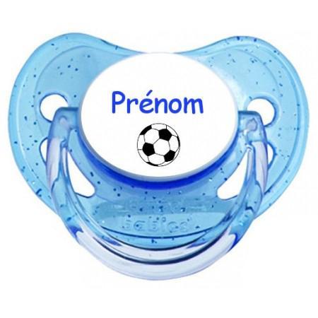 Sucette personnalisée Ballon foot et Prénom