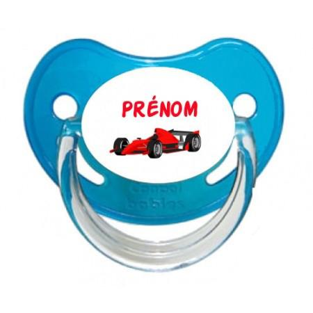 Sucette personnalisée Formule 1 et Prénom