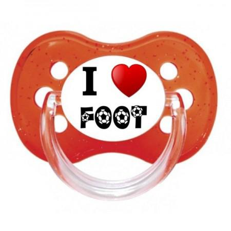 Sucette personnalisée I love foot humour