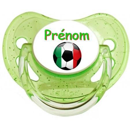 Sucette personnalisée Ballon foot Italie et prénom