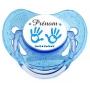 """Sucette personnalisée """"main de bébé et prénom"""" garcon"""