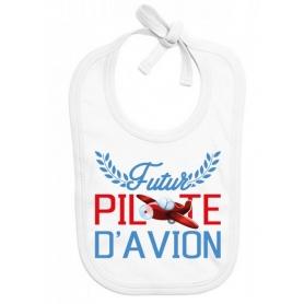 Bavoir bébé Futur pilote d'avion