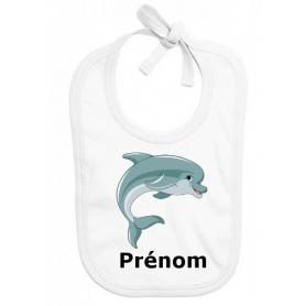Bavoir personnalisé dauphin prénom