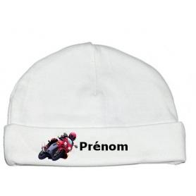 Bonnet personnalisé moto prénom