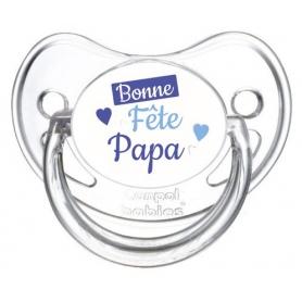 Sucette personnalisée Bonne fête papa