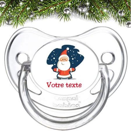 """Sucette bébé personnalisée """"Père Noël"""""""