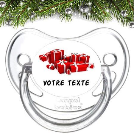 """Sucette bébé personnalisée """"Cadeaux"""""""