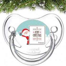 Sucette personnalisée Père Noël
