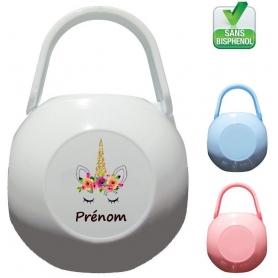 Boîte à Sucette personnalisée Licorne Prénom