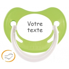 Sucette bébé personnalisée verte Happy