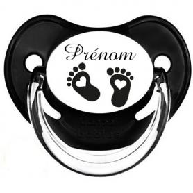 Tétine de bébé pied noir personnalisée