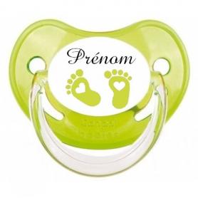 Tétine de bébé pied vert personnalisée