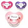Sucettes personnalisées Charme (rose, violet, fuschia)