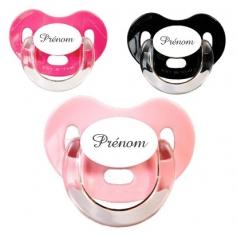Sucettes personnalisées Charme (rose, noir, fuschia)