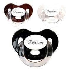 Sucettes personnalisées Charme (blanche, marron, noire)