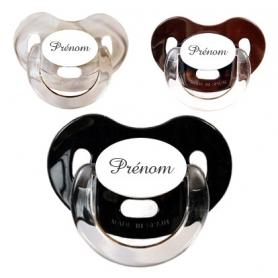 Sucettes personnalisées Charme (grise, marron, noire)