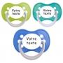Sucettes personnalisées Funny (marine, vert, turquoise)