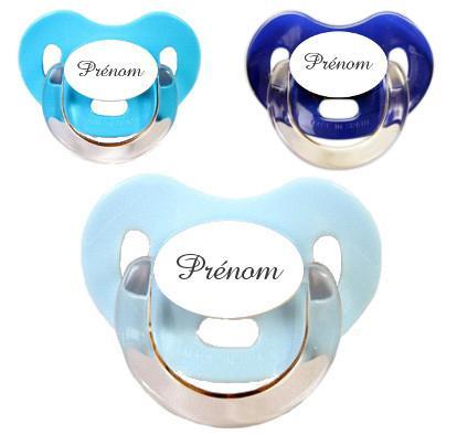 Sucettes personnalisées Charme (bleu, turquoise, marine)
