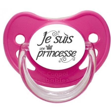 """Sucette bébé originale """"Je suis une princesse"""""""