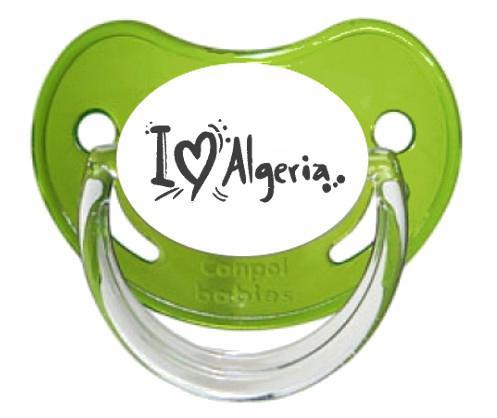 """Sucette bébé """"J'aime Algerie"""""""