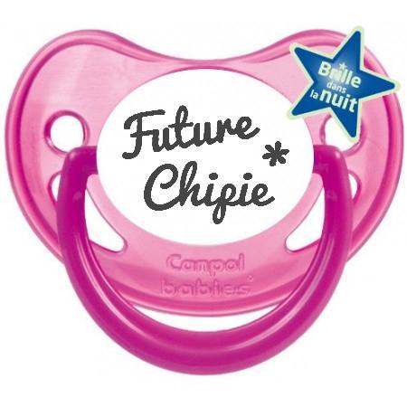 """Sucette bébé originale """"future chipie"""""""