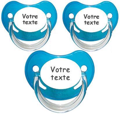 Sucettes personnalisées garçon Chupa (bleu)