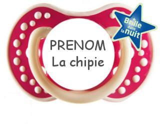 sucette personnalisée PRENOM La chipie